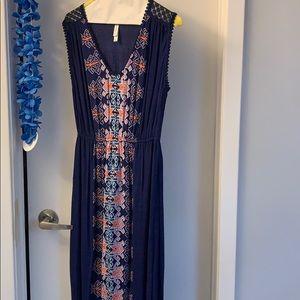 Mosaic print maxi dress